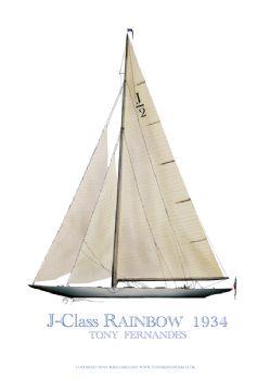 1934 Rainbow - signed print